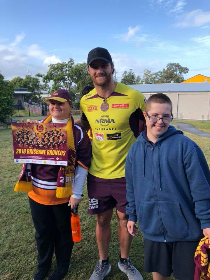 Visit from the Brisbane Broncos